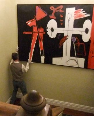 Carefully placing of pictures is always important, especially when dealing with valuable original artworks.