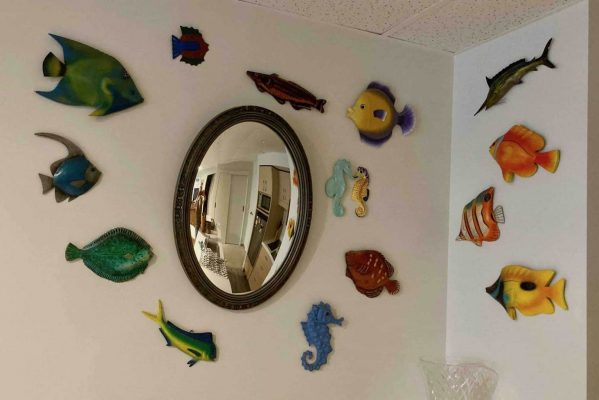 Montage with ornamental fish