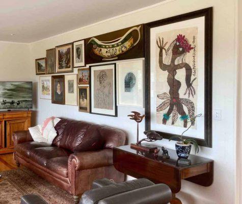 Montage of large artworks